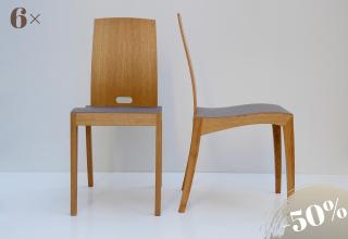 RANK chair oak mauve